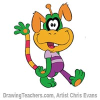 How to Draw Cartoon Characters Monty from Jumbalees
