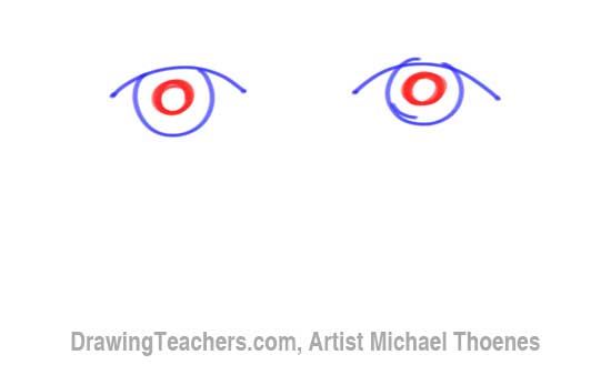 How to Draw a Easy Eyes 3