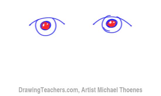 How to Draw a Easy Eyes 4