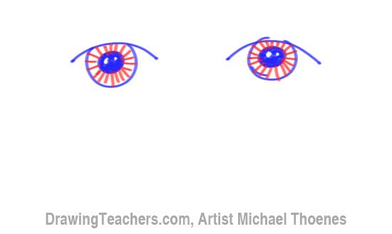 How to Draw a Easy Eyes 5