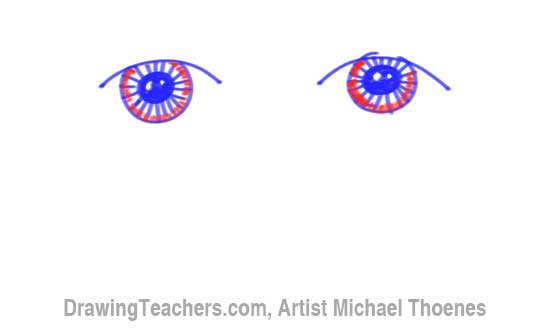 How to Draw a Easy Eyes 6