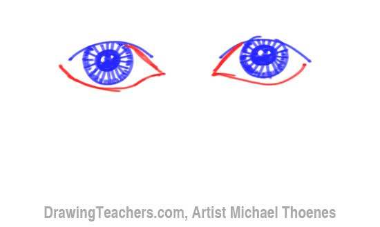 How to Draw a Easy Eyes 7