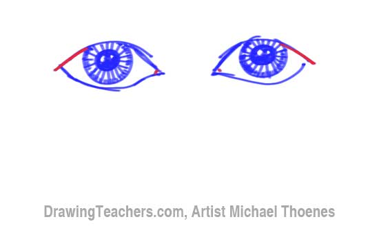 How to Draw a Easy Eyes 8