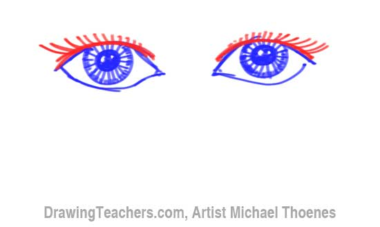 How to Draw a Easy Eyes 9