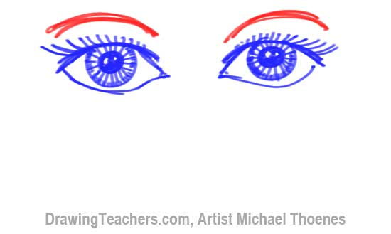 How to Draw a Easy Eyes 10