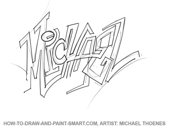 How to Draw Graffiti Letters 2