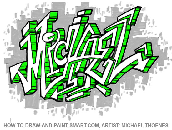 Learn graffiti letters step by