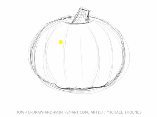 How to Draw Halloween Pumpkins Step 2