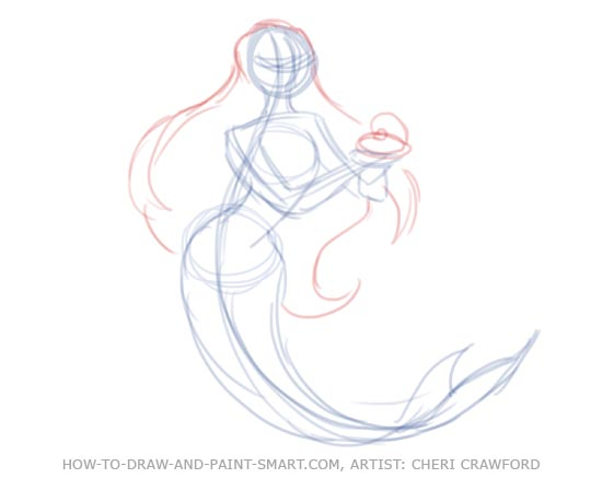 How to Draw Mermaids Drawing 5