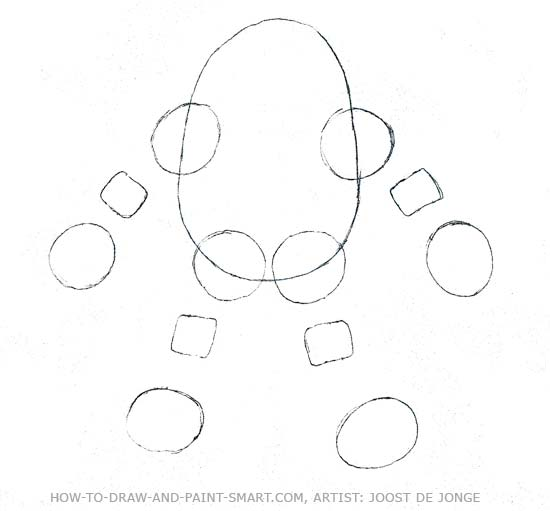 How to Draw Robots Step 2