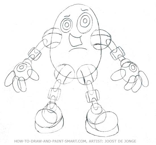 How to Draw Robots Step 4