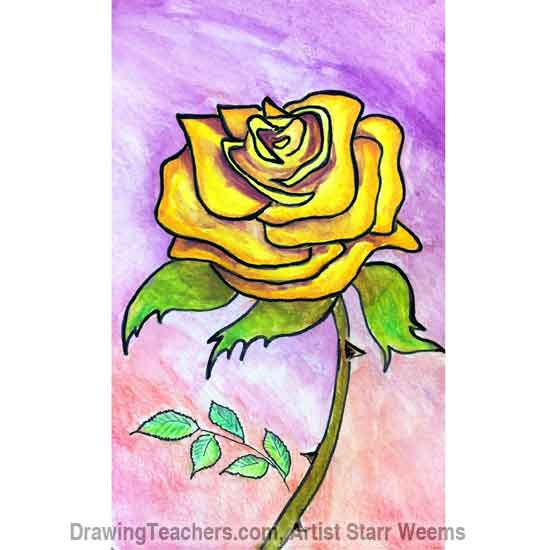 How to Draw Roses 7