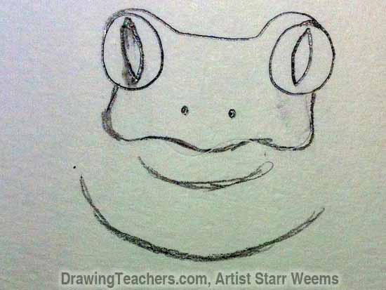 How to Draw a Tree Frog 3