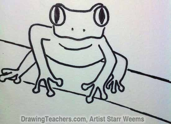 How to Draw a Tree Frog 7