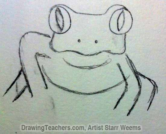 How to Draw a Tree Frog 4