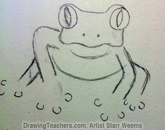 How to Draw a Tree Frog 6