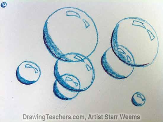 How to Paint Bubbles 4