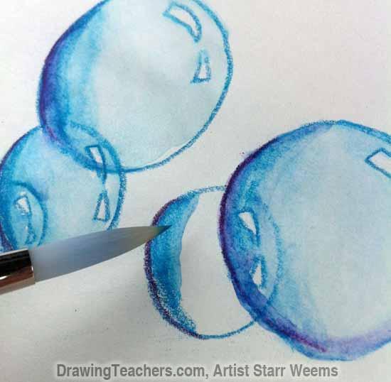 How to Paint Bubbles 5