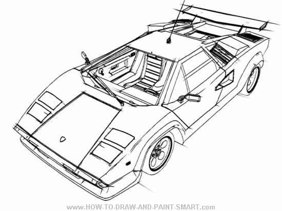 drawing lamborghini co - Lamborghini Black And White Drawing