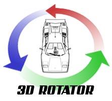 lamborghini Countach 3D Rotator