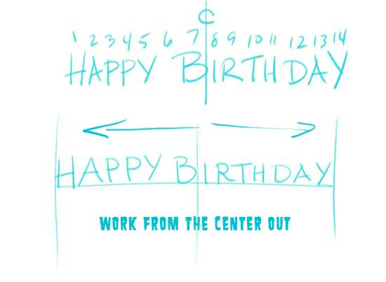 Make Your Own Birtday Banner Step 2