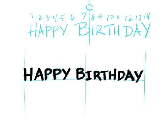 Make Your Own Birtday Banner Step 3
