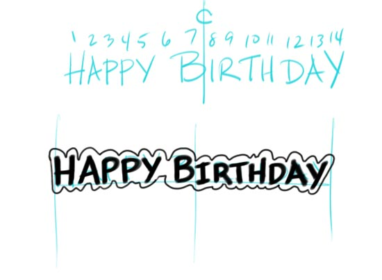 Make Your Own Birtday Banner Step 4