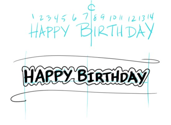 Make Your Own Birtday Banner Step 5