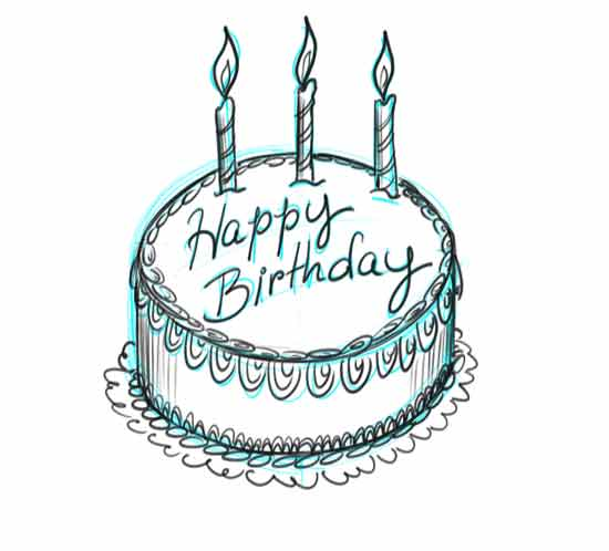 Cake Images For Birthday Drawing : Make Your Own Birthday Cards! designer s kick