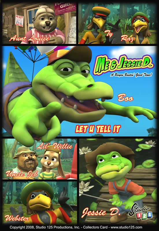 Alligator Cartoon Characters
