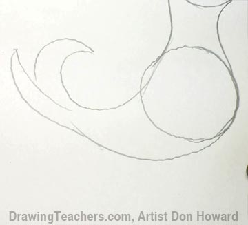 How to Draw a Seahorse 3