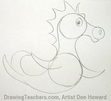 How to Draw a Seahorse 5