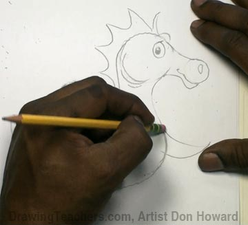 How to Draw a Seahorse 2