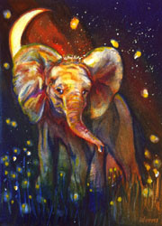 Starr Weems Elephant at Night