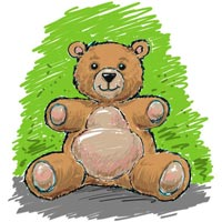 How to Draw a Teddy Bear Step 12