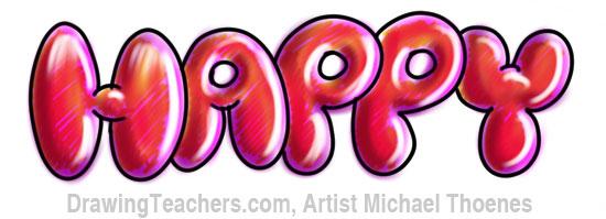 Graffiti Art Bubble Letters