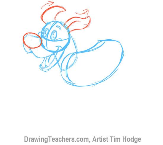 How to Draw a Cartoon dog 4