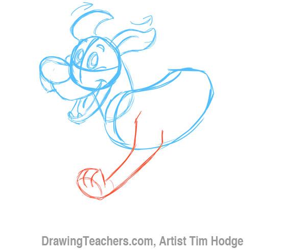 How to Draw a Cartoon dog 5