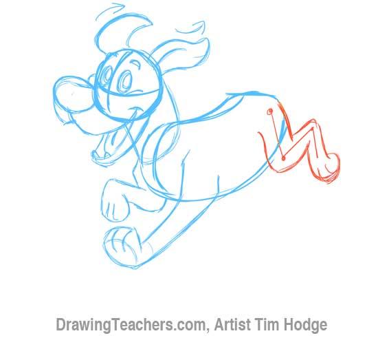 How to Draw a Cartoon dog 7