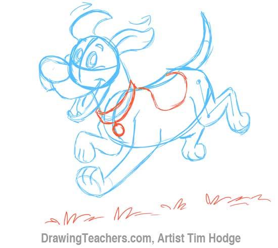 How to Draw a Cartoon dog 9