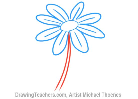 How to Draw a Cartoon Flower 5