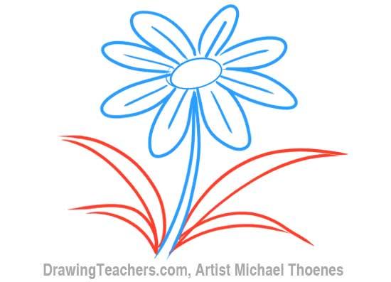How to Draw a Cartoon Flower 6