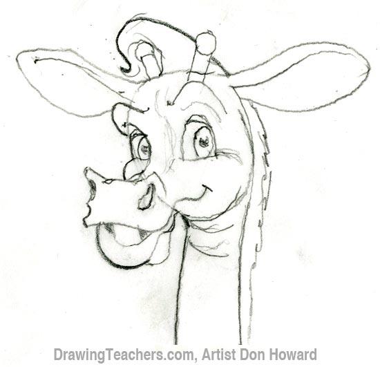 Cartoon Giraffe 4