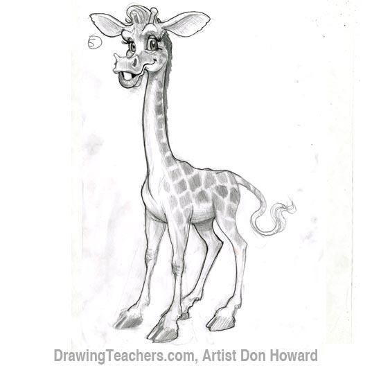 Cartoon Giraffe 6