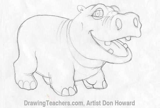 Cartoon Hippo 4