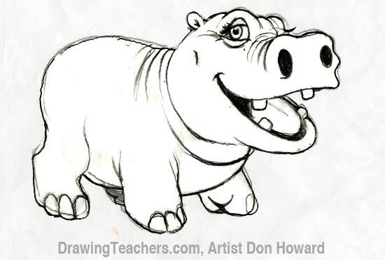 Cartoon Hippo 6