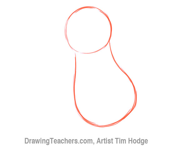 How to Draw a Cartoon penguin 2
