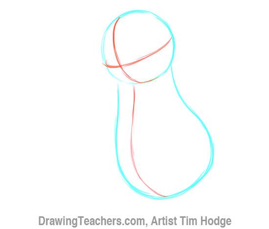 How to Draw a Cartoon penguin 3