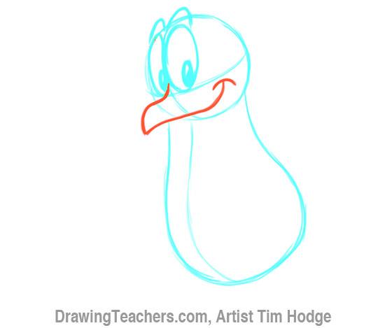 How to Draw a Cartoon penguin 6