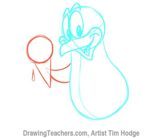 How to Draw a Cartoon penguin 9